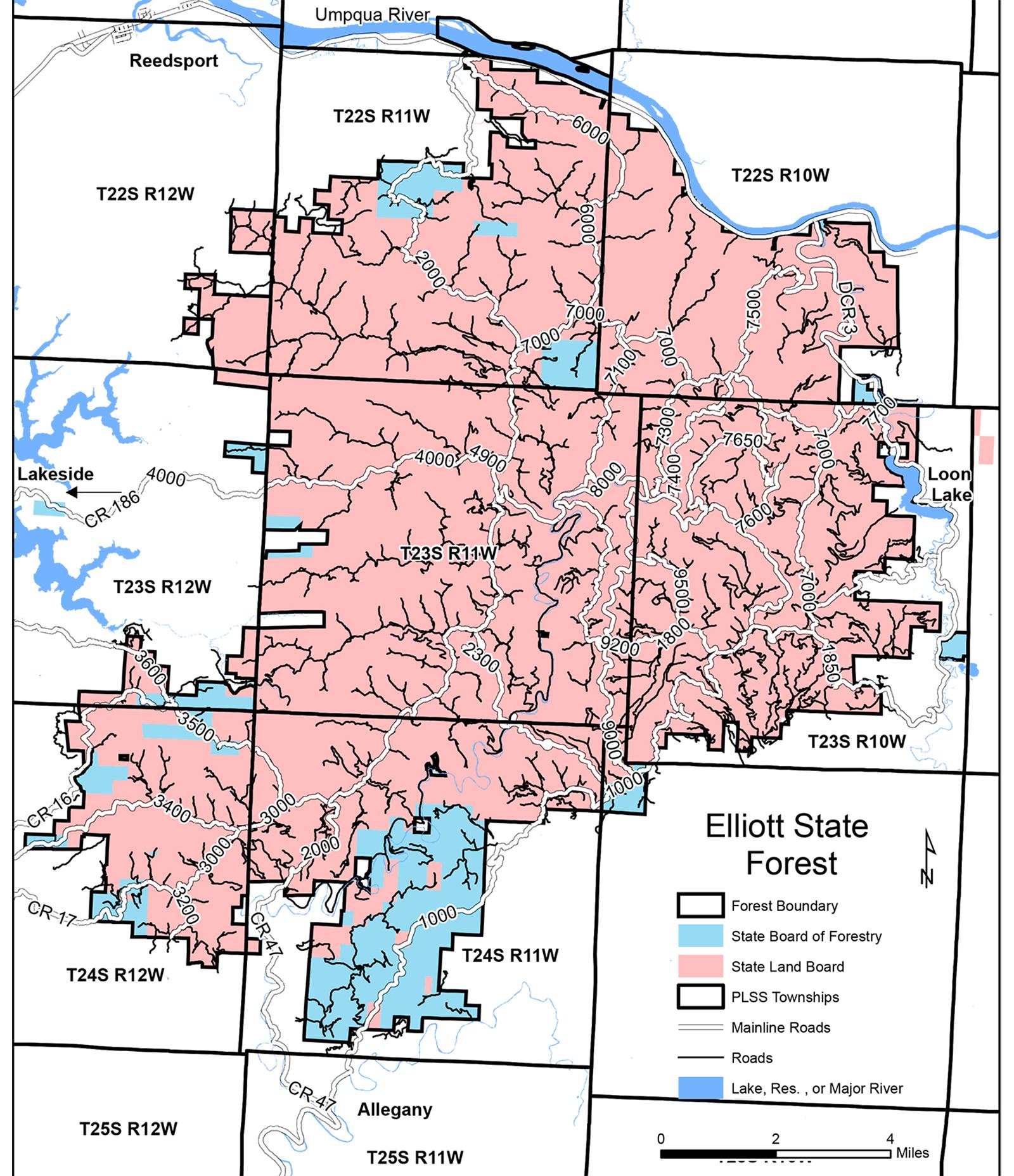 ORWW Elliott State Forest: Maps