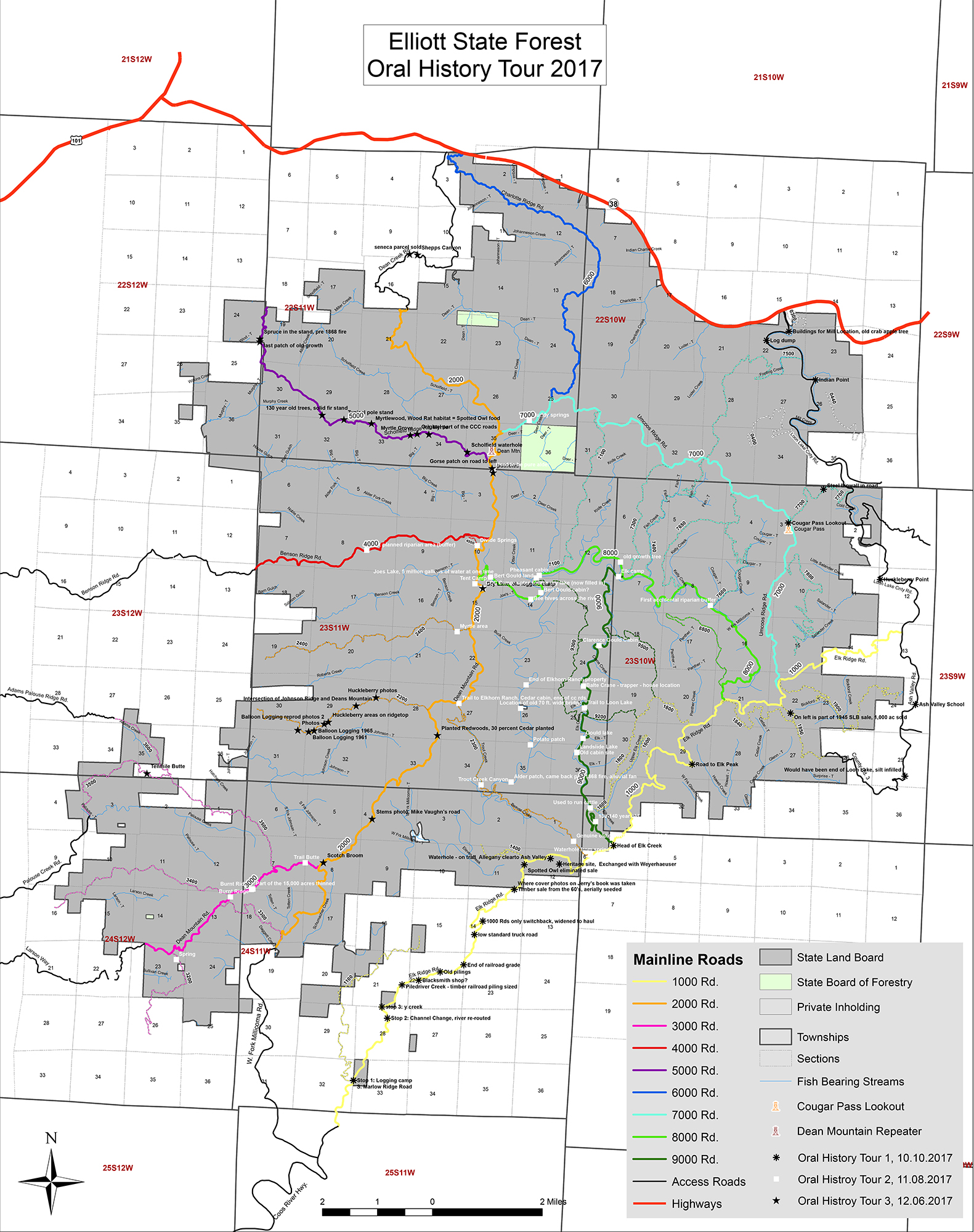 ORWW Elliott State Forest Maps