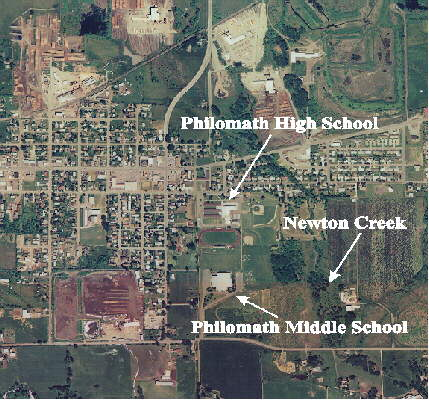 Philomath Oregon Arial View Map Of Philomath Oregon Showing The